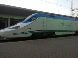 Наш поезд Ташкент -Самарканд