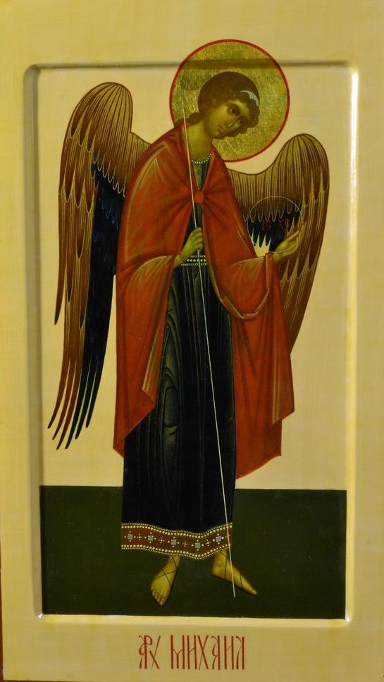 Образ Архангела Михаила ( мерная икона, заказанная на крещение ребенка)