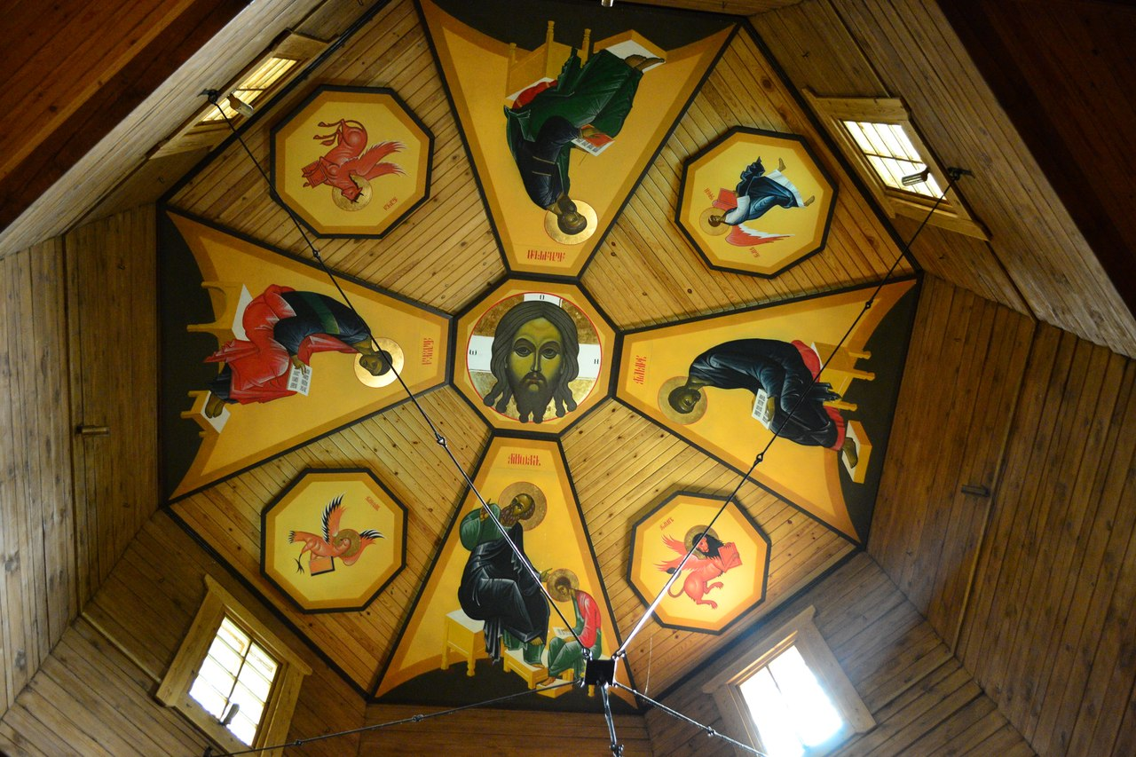 Роспись потолка храма св.апостолов Петра и Павлв, пос. Красная Долина, Выборгского райна