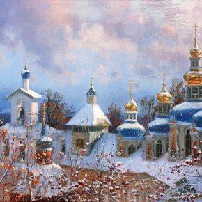 Великий канон святого Андрея Критского в Псково-Печерском монастыре 15  -19   марта